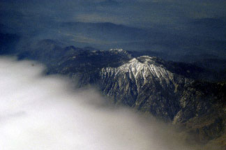Mountain from the air