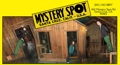Mystery Spot screen splash