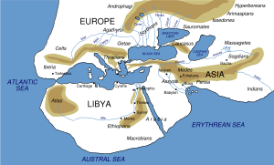 Map from Herodotus ca 450BC, Wikipedia