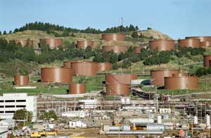 Refinery Tank Farm - click image for source