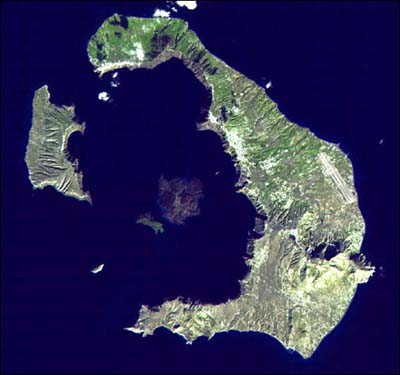 Santorini Island - NASA Satellite