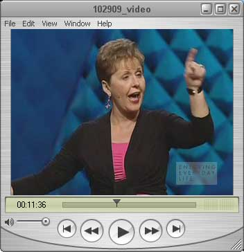 Joyce Meyer Ministries video. Screen capture.