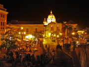 Cartagena, Columbia at night