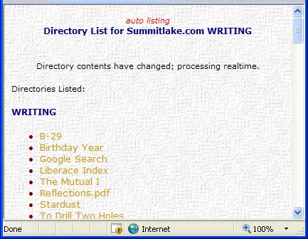 Picture of the AutoList page