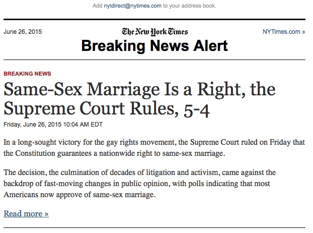 Same-Sex Marriage a Right - SCOTUS